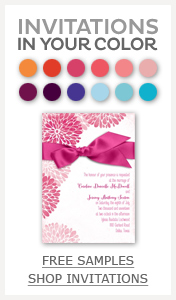 Shop Wedding Invitations in David's Bridal Coordinated Colors
