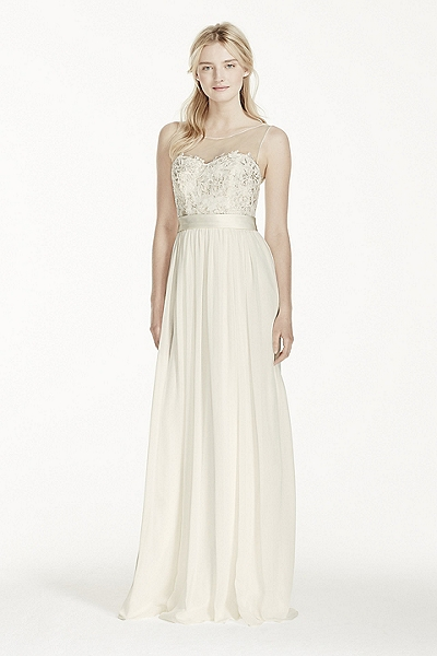 Tulle Ball Gown with Lace Illusion Neckline WG3741