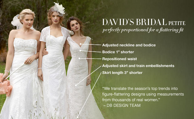 Wedding Gown For Petite Bride: About David's Bridal Petite