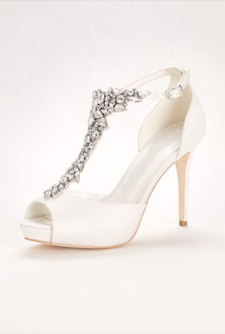 Second slideshow: Crystal T-Strap Peep Toe High Heel