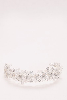Wonder by Jenny Packham Pearl and Crystal Floral Headband
