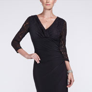 Mother wearing a black formal dress