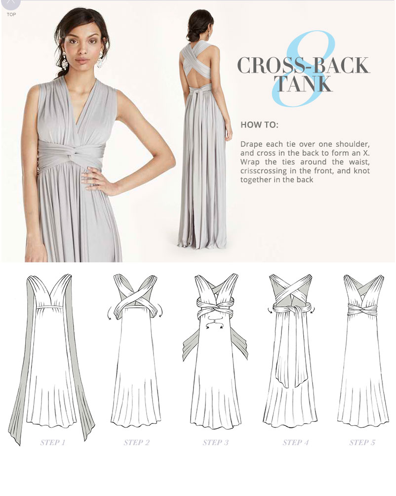 how to wear convertible dress instructions