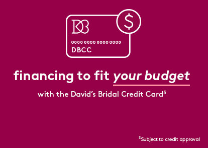 David's Bridal pink credit card