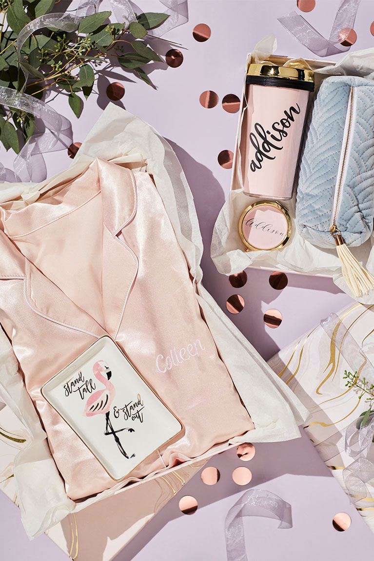 Robes and gift sets for bridesmaid gifts