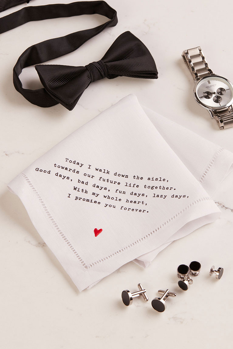 Watch and handkerchief ideas for groom gifts