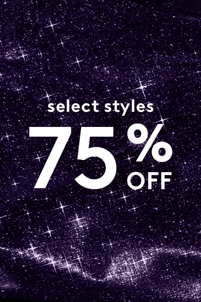 Select Styles 50% banner with a galaxy background