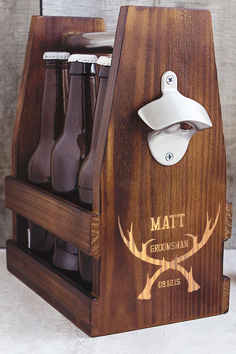 Craft beer holder and more gifts for groom and groomsmen