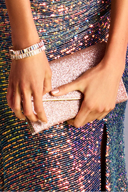 Pink clutch for prom.