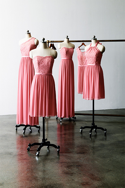 Bridesmaid Dresses on Dress Forms
