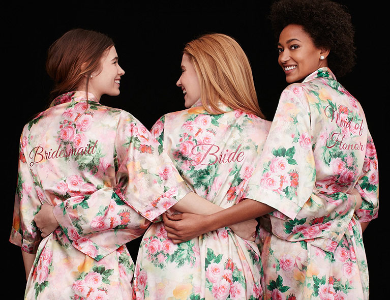 Floral Robes for Bridal Party