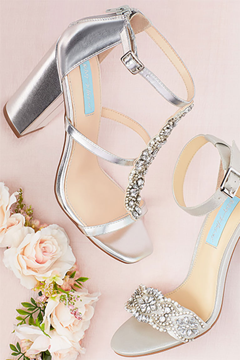 Silver Metallic Evening Shoes