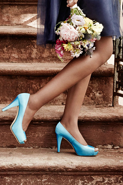 Light Blue Dyeable Shoes for Bridesmaids