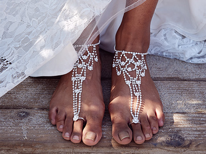 Crystal Beach Wedding Foot Jewelry