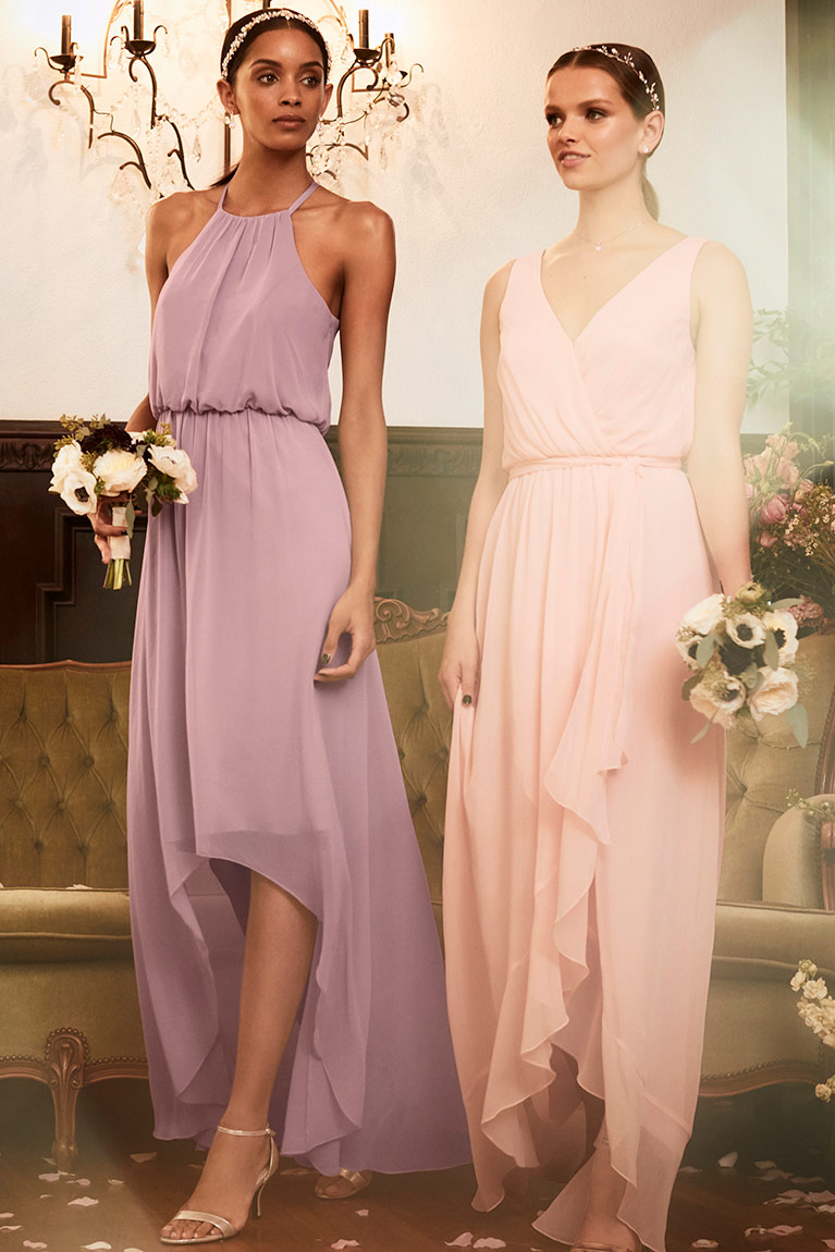 Bridesmaids inspiration exclusive styles trending looks mismatched bridesmaid dresses ombrellifo Image collections