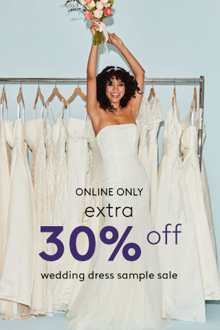 Extra 30% off Bridal Sample Sale