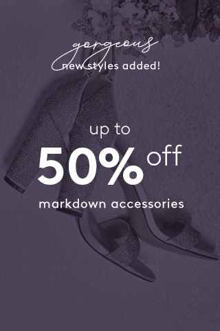 Extra 50% off markdowns accessories