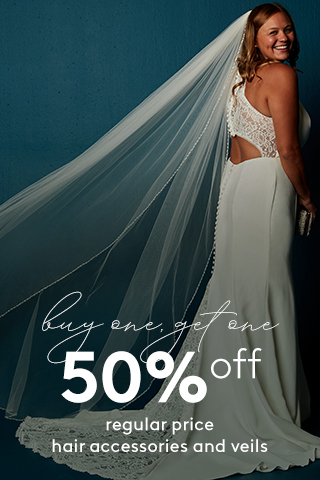 BOGO 50% off Reg Price Veils & Hair Accessories