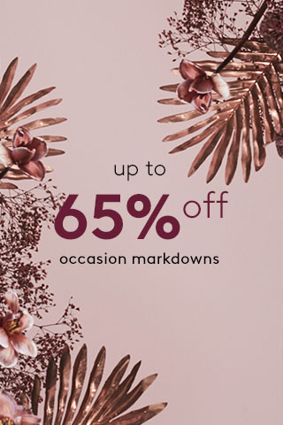 Up to 65% off Occasion Markdowns