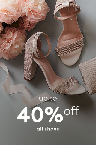 Up to 40% off all shoes