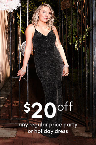 $20 off any regular price occasion dress