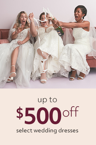 Up to $500 off wedding dresses