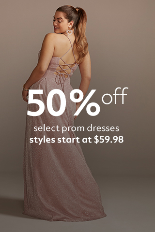 60% off prom, starting at $49.99