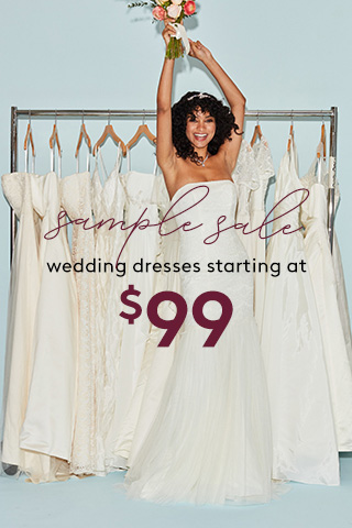 Select Wedding Dress Markdowns, Now Starting at $99
