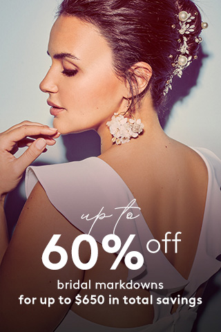 Up to 60% off Wedding Dress Markdowns