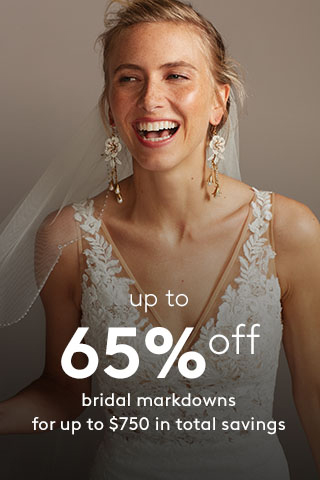 Up to 65% off Wedding Dress Markdowns