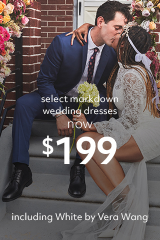 Select wedding dress markdowns $199