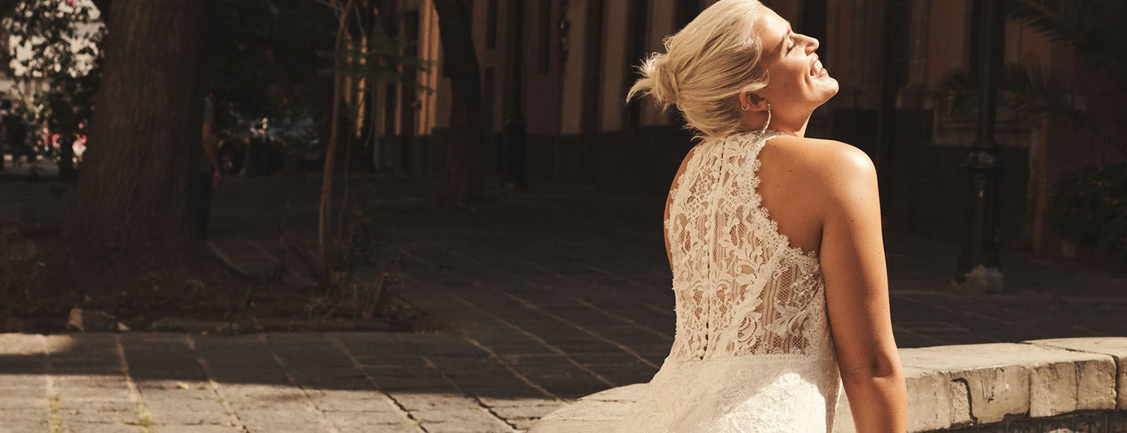 Bride with lace back