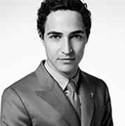 Zac Posen black and white portrait