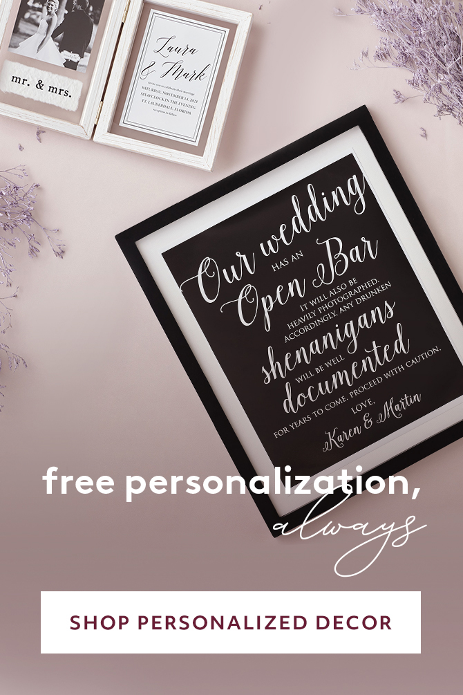 Free Personalization ALWAYS - SHOP PERSONALIZED DECOR