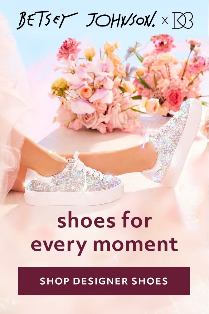 Betsey Johnson x David's Bridal bridal sneakers