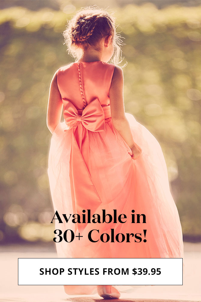 b47c3cc8c Flower Girl Dresses in Various Colors   Styles