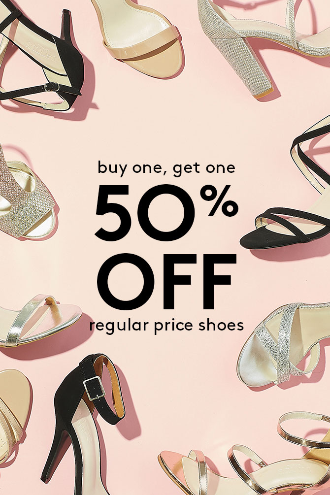 Buy One, Get One 50% Off Regular Price Shoes