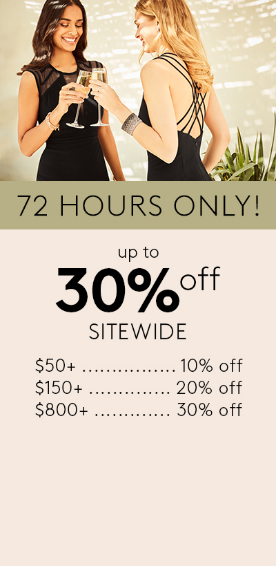 72 hours only - up to 30% off sitewide