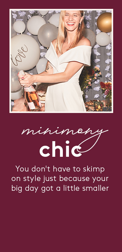 minimony chic - You don't have to skimp on style just because your big day got a little smaller