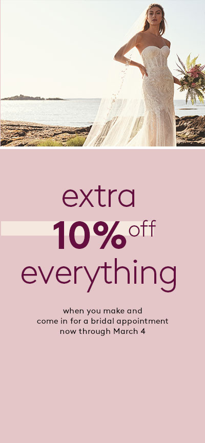 president's day sale - select wedding dresses $99 - originally $300-$600 | in-store only
