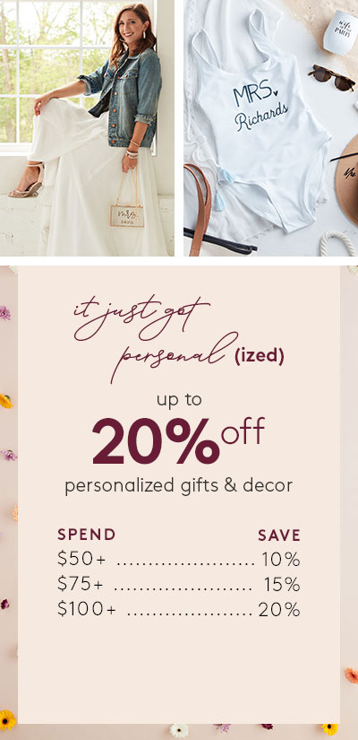 it just got personalized - up to 20% off personalized gifts & decor