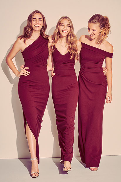 DB Studio Bridesmaids in red