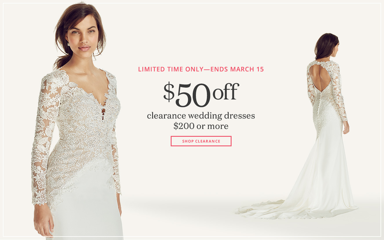 Wedding dresses bridesmaid dresses gowns davids bridal for David s bridal clearance wedding dresses