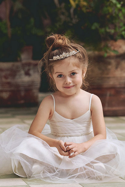 Flower Girl Sitting Down