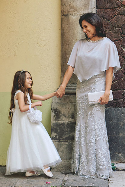 Mother of the Bride with Flower Girl