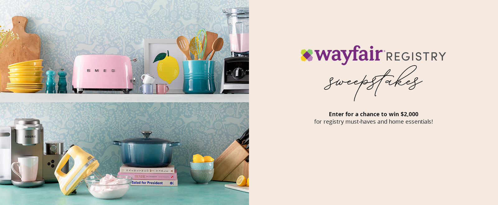 WAYFAIR REGISTRY - enter for a chance to win