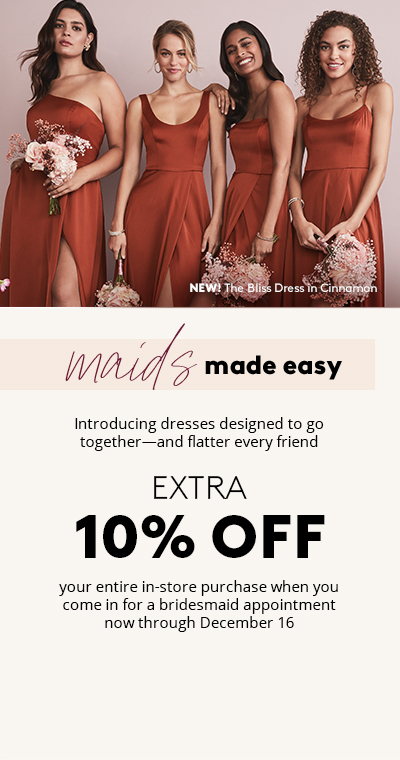 bridesmaids in mix and match cinnamon bridesmaid dresses