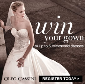 Win Your Wedding Dress or Up to 5 Bridesmaid Dresses