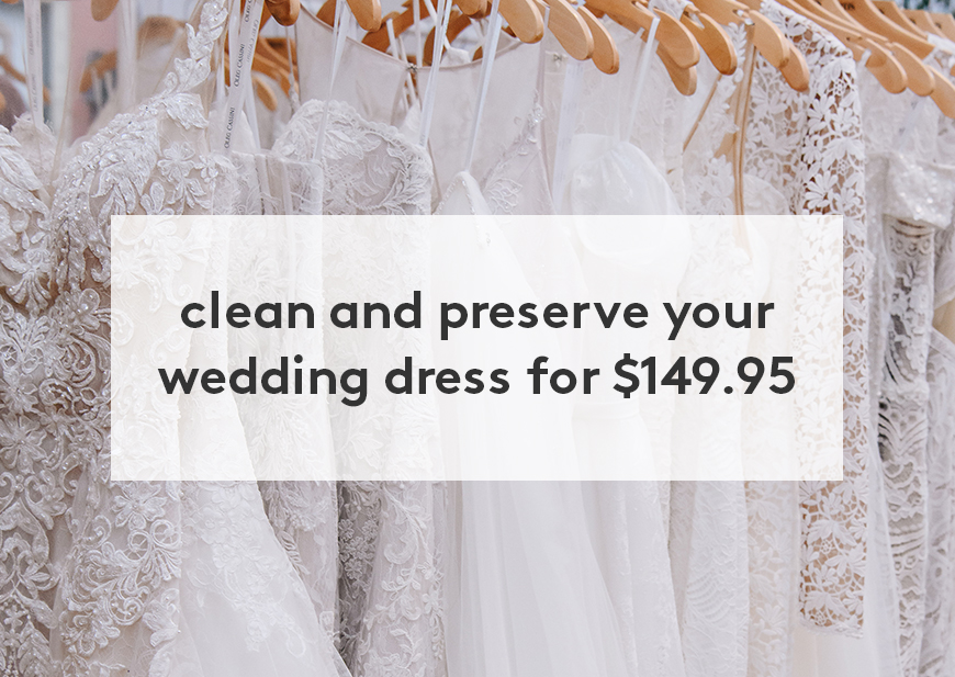 Wedding Gown Preservation Kit available for $99.95