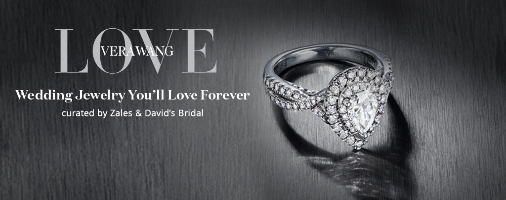 Love by Vera Wang Banner - Curated by Zales and David's Bridal. Click here to see the collection.